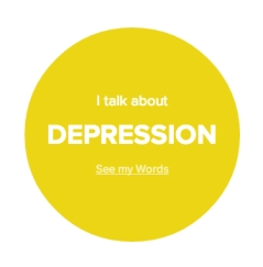 I talk about depression quite often.